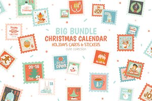 BIG BUNDLE: Christmas calendar&cards