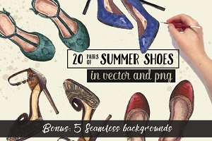 20 Pairs of Summer Shoes