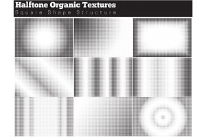 Set of halftone overlay textures