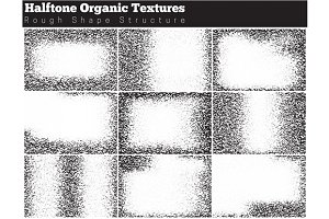 Set of halftone overlay textures2