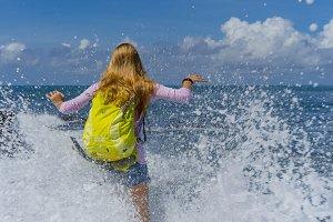 traveler in the splash