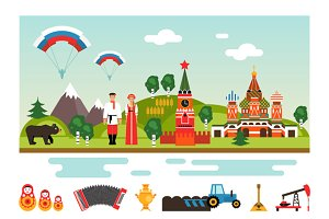 Landmarks and symbols of Russia