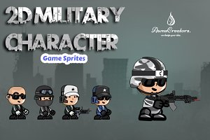 2D Millitary Soldier Character