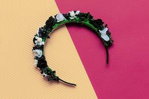 Fashion accessory. Wreath