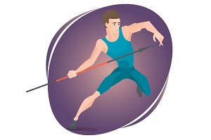 Athlete throwing a javelin