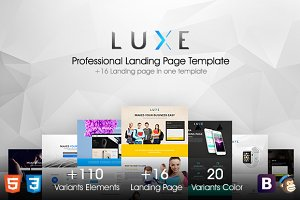 LUXE // MultiPurpose Landing Pages
