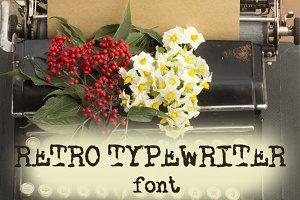 Retro typewriter font