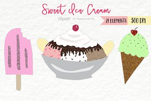 Sweet Ice Cream Clip Art