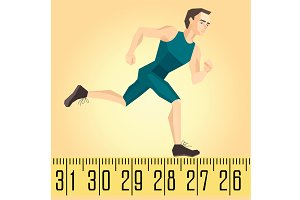 illustration of a running athlete