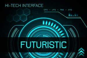 Hi-tech futuristic design templated