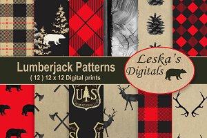 Lumberjack Forest Digital Paper