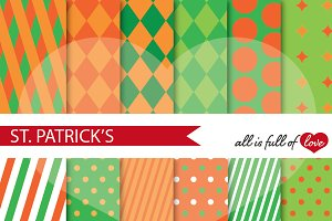 St Paddys Pattern Digital Paper