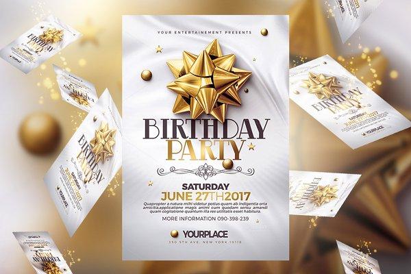 Birthday Invitation   3 Psd Templat…