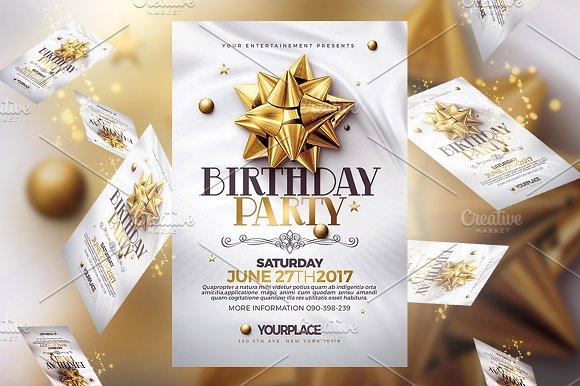 birthday invitation 3 psd template flyer templates creative market