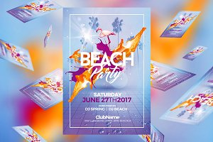 Beach Party | Psd Flyer Template