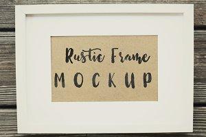Rustic Frame Mockup