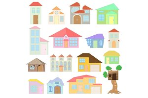 House set, cartoon style