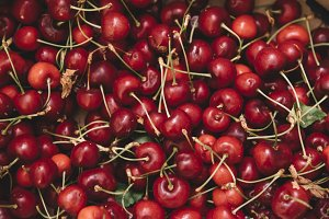 Cherries fresh fruit background