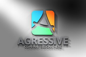 Agressive / A Letter Logo -45%off