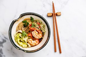 Ramen noodles with Prawns
