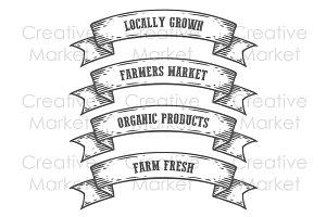 Farmers market emblem ribbons
