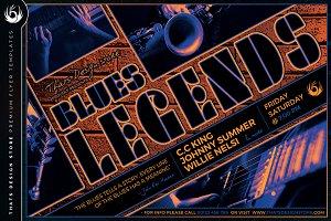 Blues Legends Flyer Template