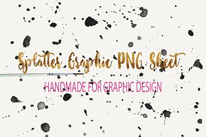 Splatter Graphic Sheet PNG