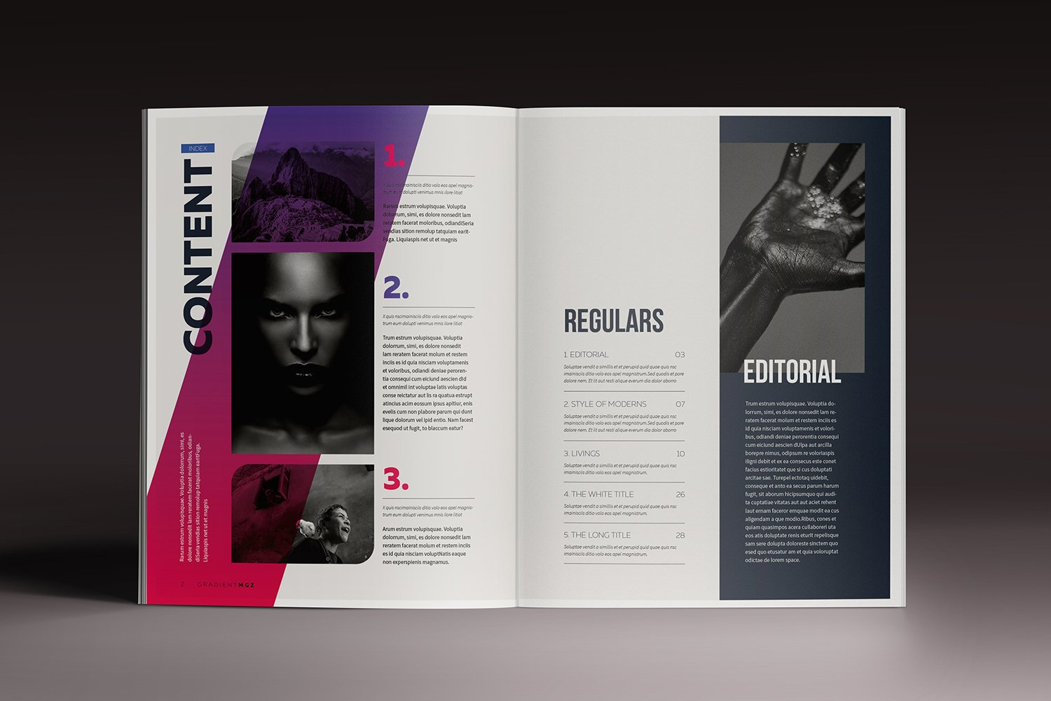 Gradient Magazine Indesign Template ~ Magazine Templates ~ Creative ...