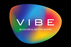 Vibe: 18 Colorful Vector Shapes