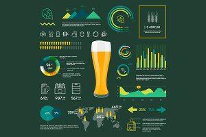 Vector beer infographics design