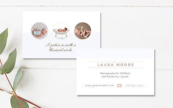 Newborn photographer business card business card templates newborn photographer business card business card templates creative market colourmoves