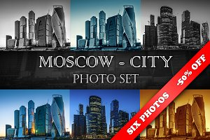 Moscow-City at evening and night