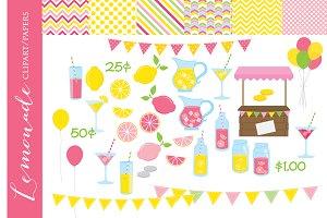 Lemonade clipart pink clip art fruit
