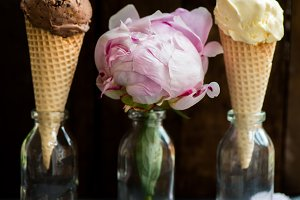 Ice Cream and Peony