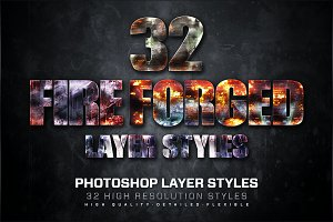 32 Fire Forged Layer Styles 2