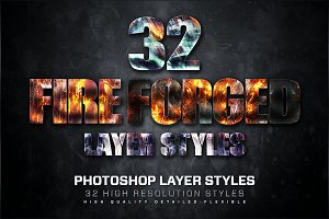 32 Fire Forged Layer Styles 4
