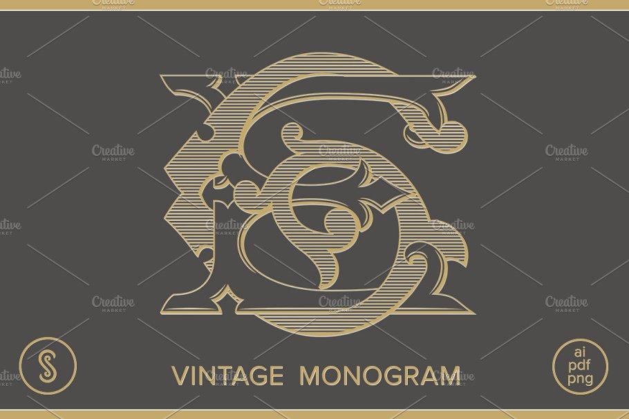 Ks Monogram Sk Monogram Creative Illustrator Templates Creative Market