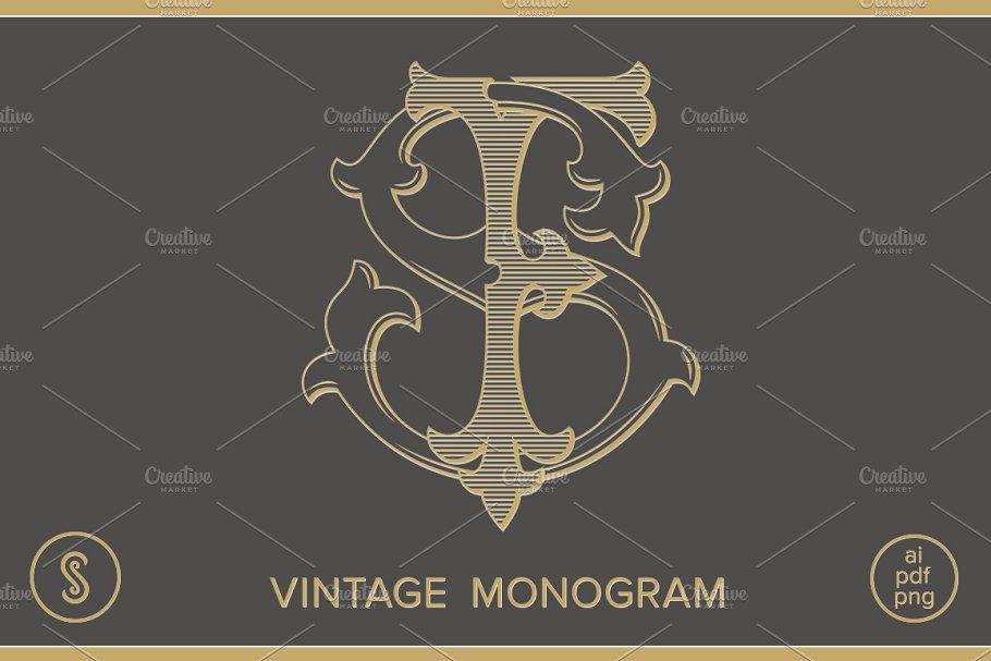 Ej Monogram Je Monogram Creative Illustrator Templates Creative Market