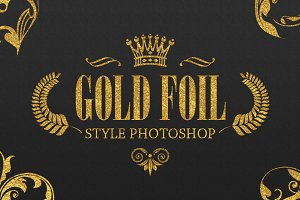 36 Gold Foil Style Photoshop