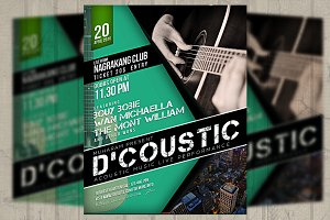 Acoustic Music Event Flyer/ Poster
