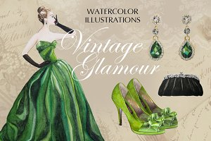 Vintage Glamour Emerald Collection