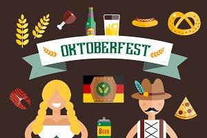 Oktoberfest vector icons