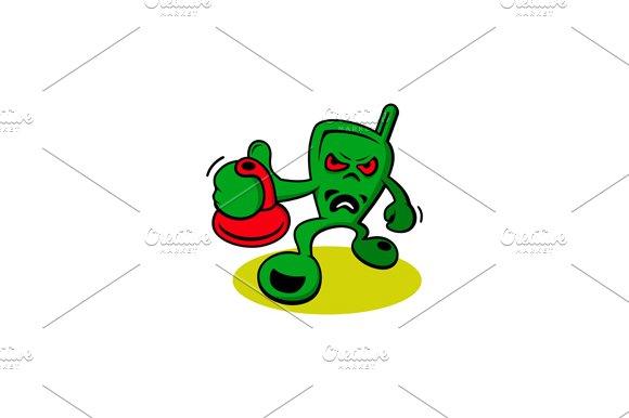 Aggressive creature. Phone - Illustrations
