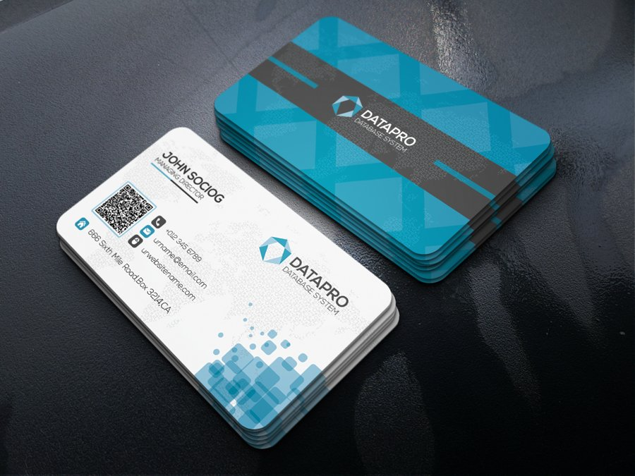 Data Business Card ~ Business Card Templates ~ Creative Market