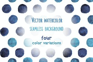 Vector watercolor dots