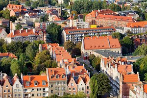 Gdansk Houses From Above