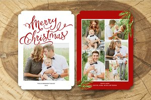 Christmas Card Template 027