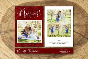 Christmas Card Template 028