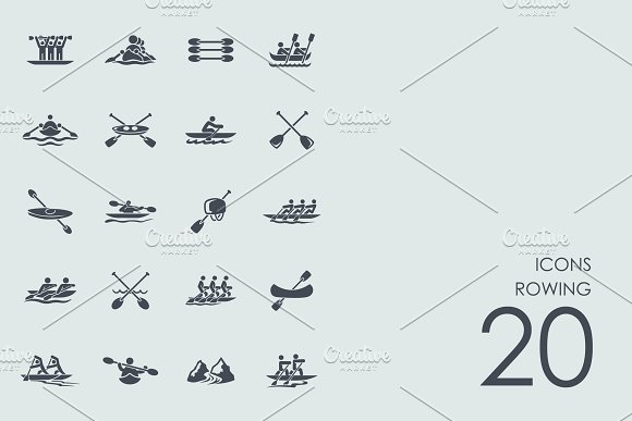 Rowing icons