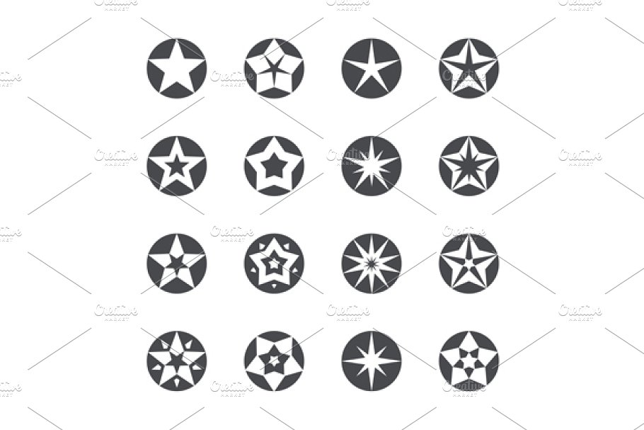Stars set in Icons